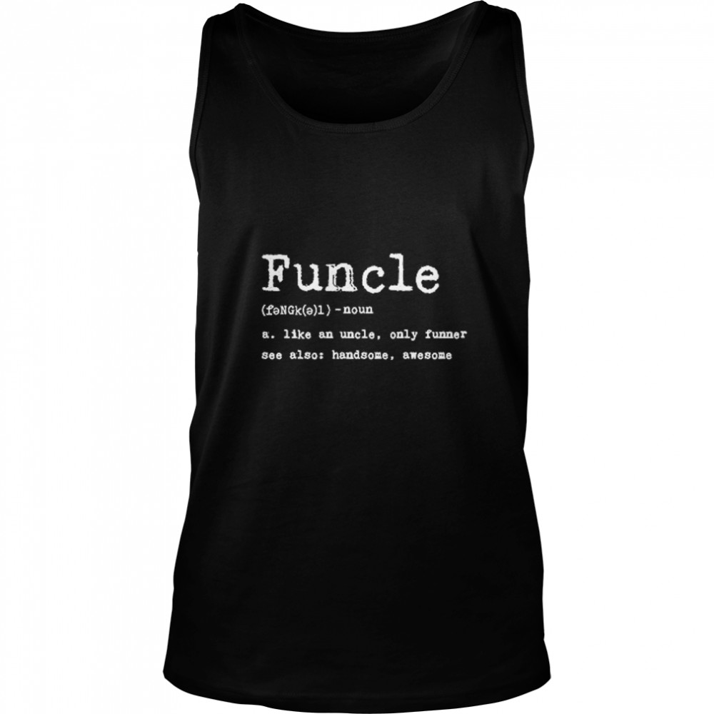 Thumb Funcle Definition  Unisex Tank Top