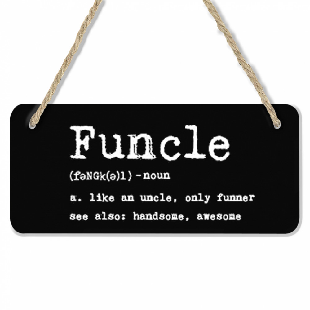 Thumb Funcle Definition  Room Wood Sign