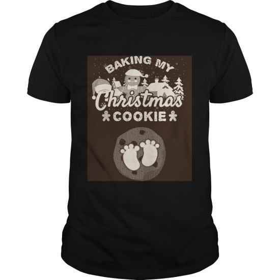 Pregnant Christmas Cookie Sweatshirt Funny Cookie Pregnancy